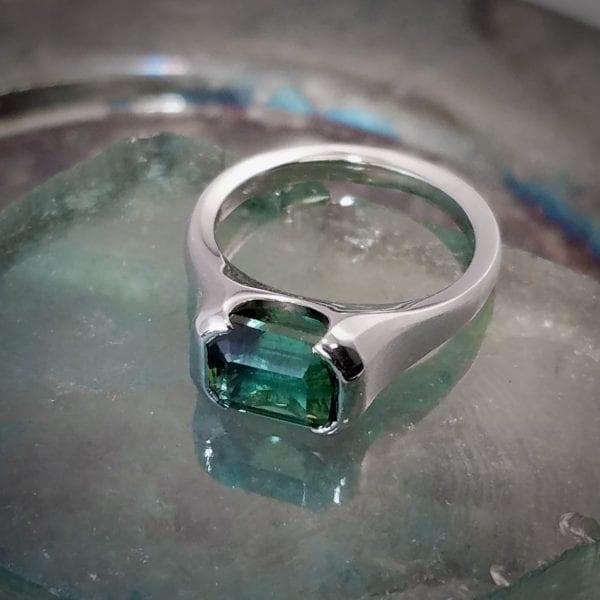 white gold tourmaline ring