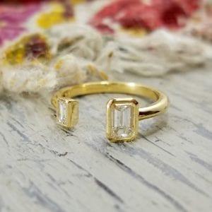 Two-stone fashion ring