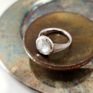 Rose Cut Diamond Bezel Ring