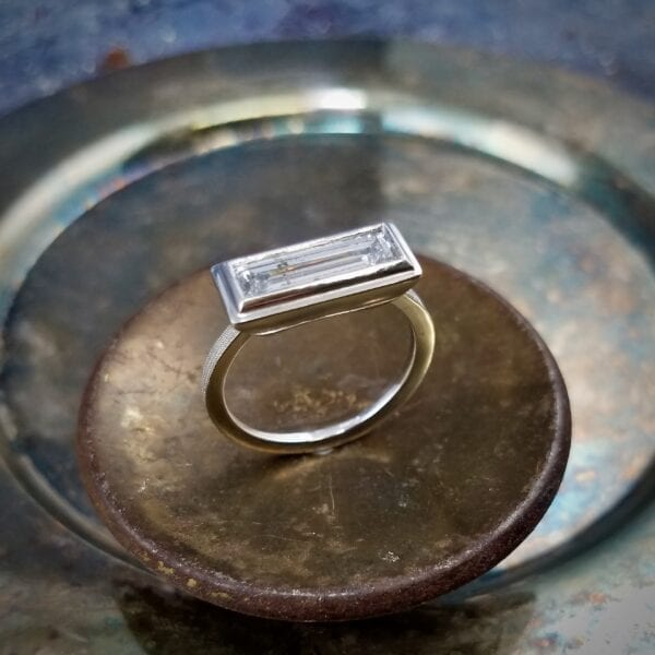 Baguette statement ring