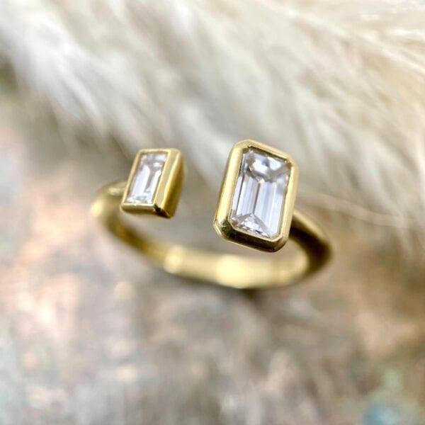 2-stone fashion ring