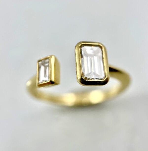 2-stone diamond ring