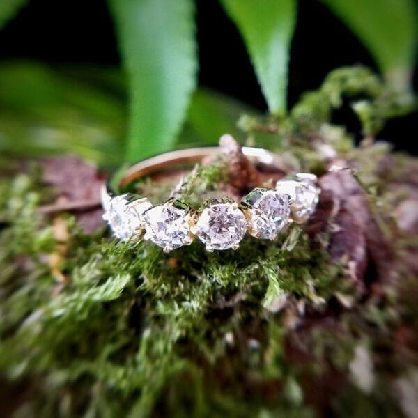 5 stone diamond band