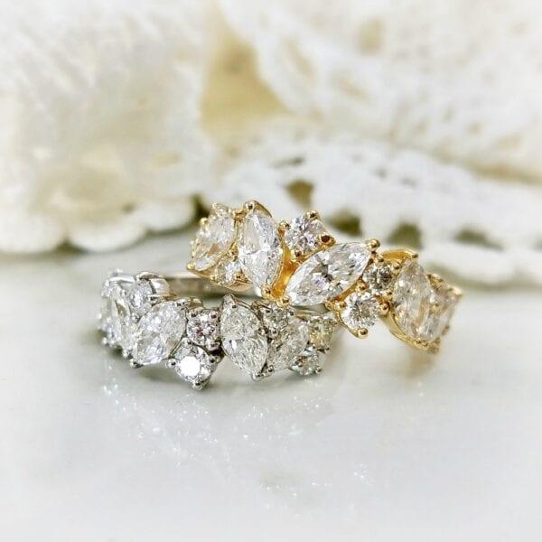 Marquise diamond rings