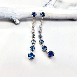 blue sapphire ombre earrings