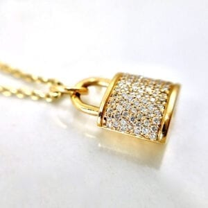 Diamond locket necklace pendant