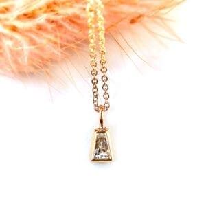 Baguette diamond necklace pendant