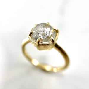 Rosecut diamond solitaire