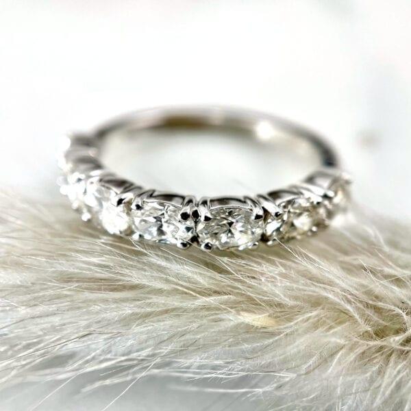 diamond stacking weddingband