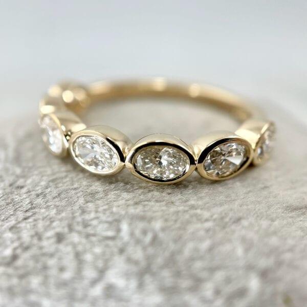 Yellow gold bezel ring