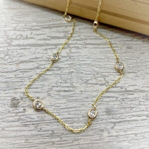 Oval diamonds by the yard necklace