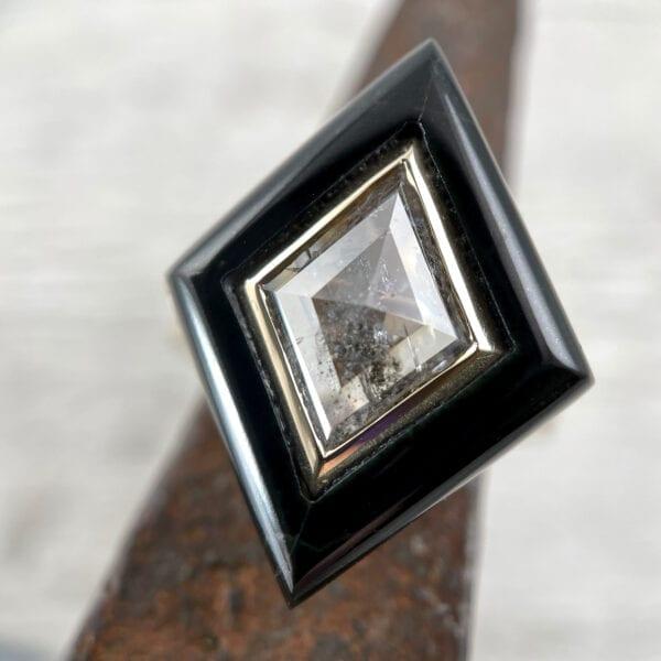 kite black jade ring