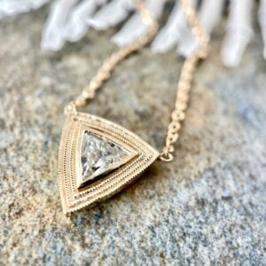 Trillion diamond pendant necklace