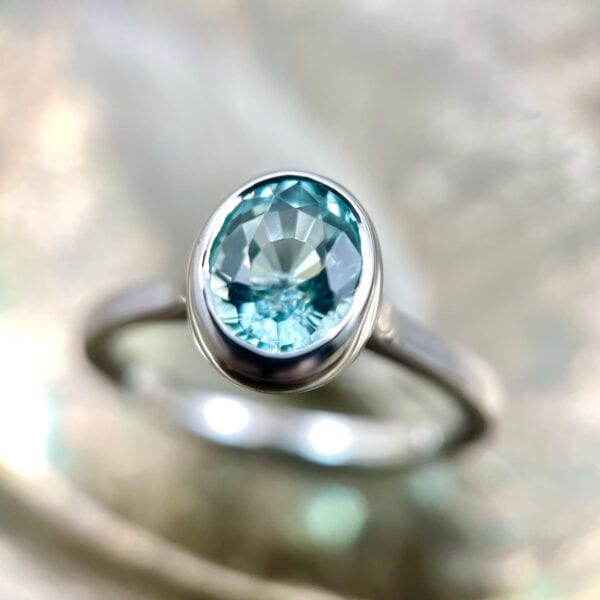Tourmaline bezel ring