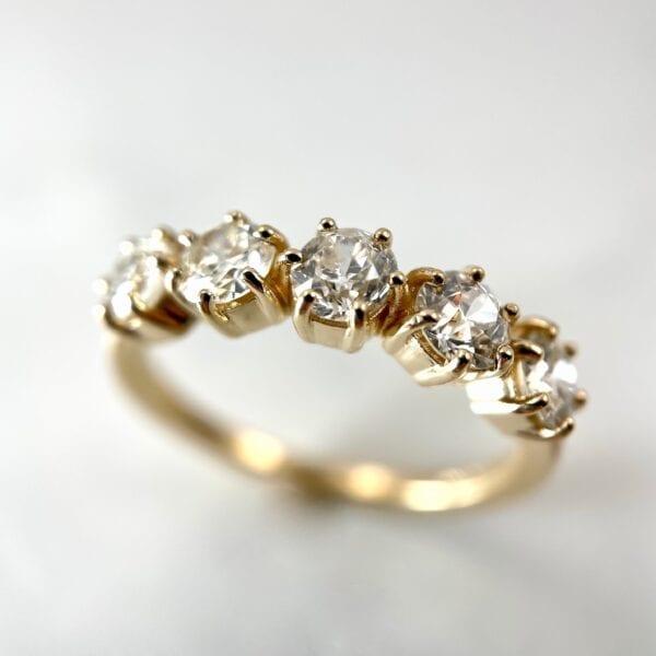 5-stone diamond band