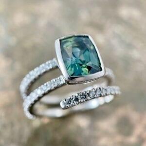 Madagascar Sapphire wrap ring
