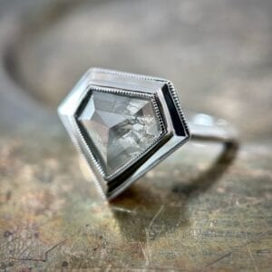Diamond shield ring