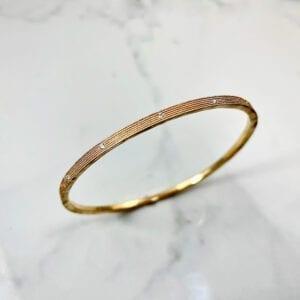gold bangle bracelet with diamonds