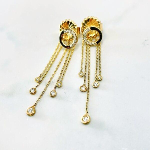 Diamond drop earring backs