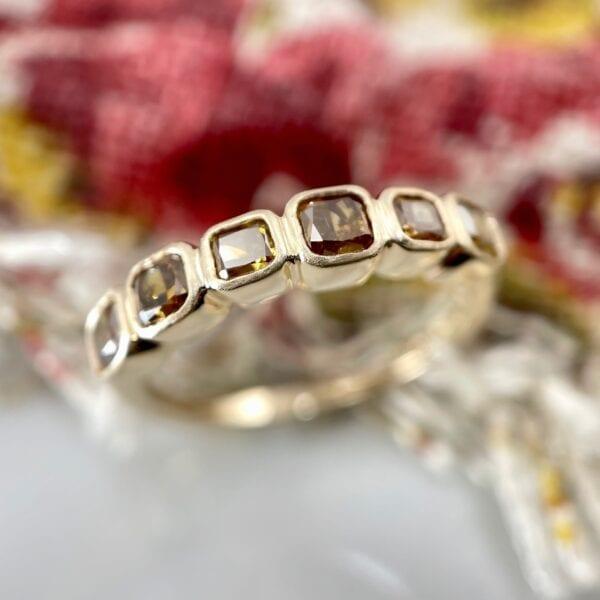 Cognac diamond band
