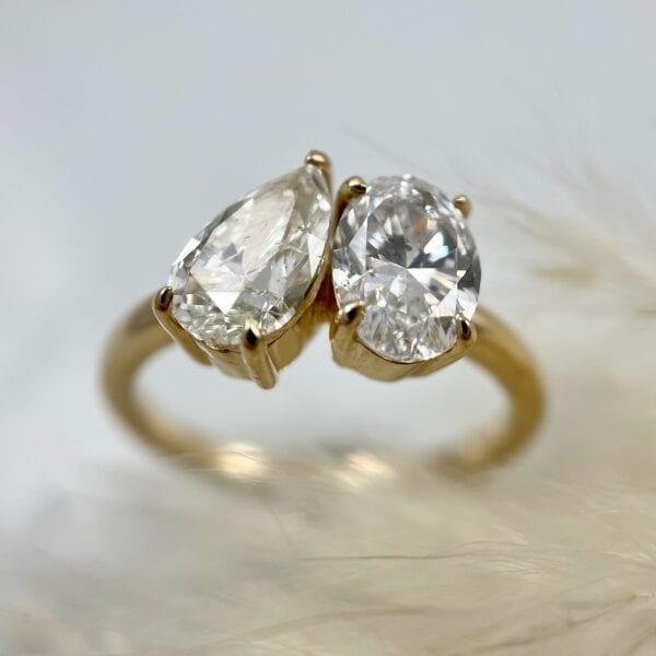 2 stone diamond ring